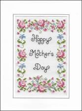 Happy Mother's Day cross stitch card kit