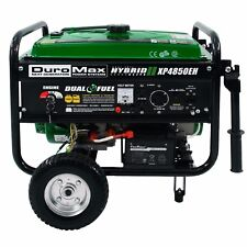 Portable DuroMax Dual Fuel 4,850W Hybrid Propane/Gasoline Generator With Frame