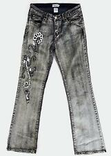 Womens TRUE PEOPLE NY Flare Jeans Size 9 - Embroidery Sequins Embellishments
