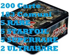 Yu-Gi-Oh! SUPER Tin Zexal con 200 carte 183 comuni 5 Super-Rara 2 UltraRare 5 Ra