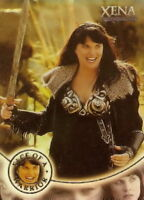 Xena Season 4 and 5 W7 Face of a Warrior insert card  Lucy Lawless