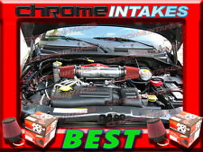 K&N+RED DUAL 99 00 01 02-04 JEEP GRAND CHEROKEE/LAREDO 4.7L V8/HO AIR INTAKE KIT