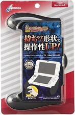 kb04 Cyber Gadget Rubber Coating Grip 2 Black For Nintendo New 3DS LL XL