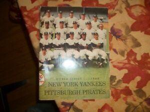 Original 1960 WORLD SERIES WS PROGRAM PITTSBURGH PIRATES VS NEW YORK YANKEES