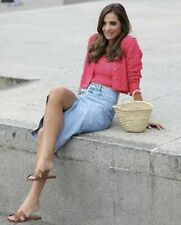 ZARA Pink Pointelle Knit Crop Top & Cardigan Co-ord Set Size L