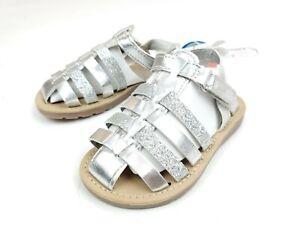 Carter's Toddler Girls Size 7  Silver Glitter Sparkle Sandals