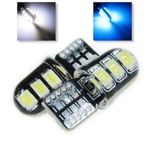 UK x2 T10 W5W 501 White Blue Car Side light Interior Sidelight 12v 2835 SMD LED