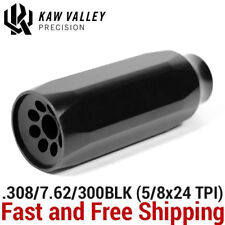 Kaw Valley Precision 3.25-Inch Magnum Linear Comp 5/8x24 Tpi (308/7.62/300Blk )
