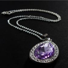 Sofia Amulet Necklace Princess Real Metal Purple Amulet Tear Drop- US Seller