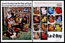 1974 No Shula Foto la-Z-Boy Reclinable Silla Vintage Estampado Anuncio