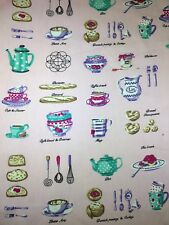 Fabric Freedom 100% Cotton TEA PARTY CAKE  Craft/Fashion Fabric Material