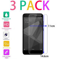 3pack Gorilla Tempered Glass Screen Protector for New Xiaomi Redmi Note 4 Helio