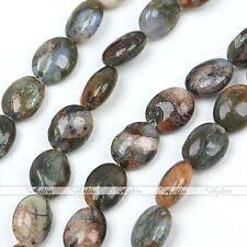 8x10mm Rhyolith Jaspis Edelstein Perlen f Halskette Armkette Armband Schmuck DIY