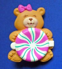Avon FRAGRANCE GLACE Pin FRIENDS CANDY BEAR with PEPPERMINT Vintage KIDS ~ EMPTY