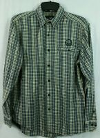 Men's Harley Davidson Plaid Flannel Shirt Size M 100% Cotton SUPER SOFT Shirt