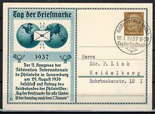 1 Sonderkarte zum Tag der Briefmarke 1937 Stempel Gößnitz (Kr. Altenb.) # 840
