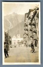 France, Chamonix, La Semaine Automobile  Vintage silver print. Vintage France