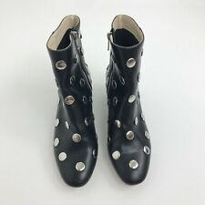 H&M Studded Boots Women's Size 38 Black Silver Metal Studs Ankle Boots
