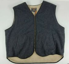 Woolrich Vest Sleeveless Sherpa Lined Full Zip Wool Blend Charcoal Mens Size XXL