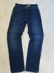 WRANGLER Texas Stretch Jeans Blu Darkstone Nuovo Uomo dritto Regular Fit Denim