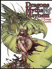 Dragons Myths And Mayhem The Art Of Tommy Castillo Sc Art Book Sqp 2001 Fantasy