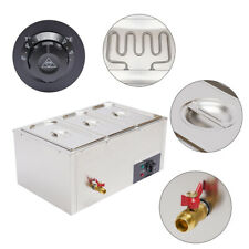 Electric Bain Marie Buffet Steamer 3 Pot Countertop Food Warmer Steamer Table Us