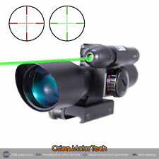 Tactical 2.5-10x40 Red Green Mil-dot Rifle Compact Scope w/Green Laser universal