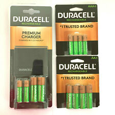 BRAND NEW DURACELL PREMIUM CHARGER RECHARGEABLE BATTERIES 6 AA & 6 AAA BATTERY