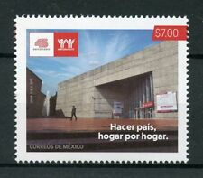 Mexico 2017 MNH Infonavit 45th Anniv Worker's Housing 1v Set Architecture Stamps