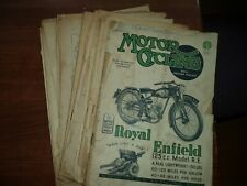 Vintage 1940's~50's MOTOR CYCLING Magazine BSA Vincent English Magazine
