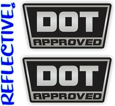 2x REFLECTIVE DOT Approved Motorcycle Helmet Stickers | Hard Hat Decals | Labels