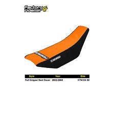2002-2008 KTM SX 50 FULL GRIPPER SEAT COVER Black/Orange by Enjoy MFG