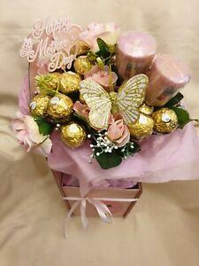 Mothers Day Basket of Joy Ferrero Chocolate Bouquet - Sweet Gift hamper