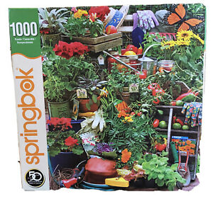 "Springbok Jigsaw Puzzle Garden Delights 1000 Pieces 24"" X 30"""