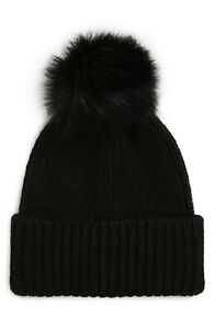 UGG Women's Yarn Pom Knit Hat Winter Apparel 18751 BLACK ONE SIZE