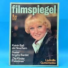 DDR Filmspiegel 8/1981 Brigitte Bardot Katrin Saß Rene Clair Francoise Rosay V