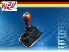 HOLZ SCHALTKNAUF + SCHALTSACK MANSCHETTE VW GOLF IV 5-GANG SCHWARZ ALU D181