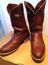 Vintage Canada West Steel Toe Western / Work / Motocycle Boots !! Mens 9