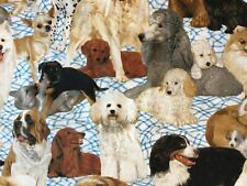 4 yds Daisy Kingdom #1873 Man's Best Friend Allover Cotton Quilting Fabric Dogs