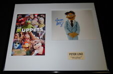 Peter Linz Signed Framed 16x20 Photo Display AW The Muppets Voice of Walter