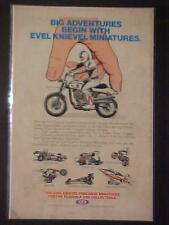 Old Rare Evel Knievel Miniatures Die-Cast Toy Motorcycle+ 1976 Print Ad Vintage