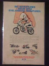 RARE EVEL KNIEVEL MINIATURES DIE-CAST TOY MOTORCYCLE+ ORIG PRINT AD VINTAGE 1976