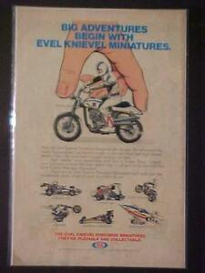 OLD IDEAL TOYS EVEL KNIEVEL DIECAST TOY MOTORCYCLE+ PRINT AD ORIG VINTAGE 1976