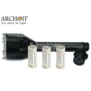ARCHON D33 3x Cree XM-L2 U2 3000lm 3x 26650 LED Flashlight+Charger+3x 26650