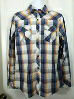 Rebel & Soul New Men's M/M Plaid Button Down Shirt