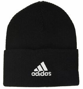 Adidas Beanie Hat Trio Woolie Mens Black One Size Fits Most 100% Genuine New