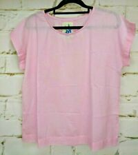 Fine Cotton Top Short Sleeves Pale Pink Cake Brand India Sz S