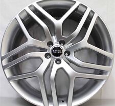 22 INCH APEC AUTOBIOGRAPHY SILVER FITS RANGE ROVER WHEELS & TYRE PACKAGE SPORT