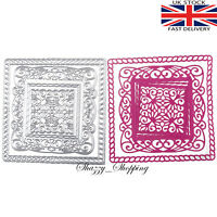 4 piece Fancy Square background Die set metal cutting die cutter UK Fast Post