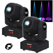 2x Equinox Fusion Spot MKII Moving Head 12W LED Lighting Effects with DMX Cable